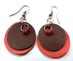 (un)intentional contemporary art in Transylvania: Round leather earrings Leather Earrings, Contemporary Art, Crochet Earrings, Pendants, Drop Earrings, Accessories, Jewelry, Ideas, Jewlery