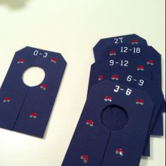 Make closet dividers for babies clothes from foam!! Decorate with stickers or sharpies, so simple!
