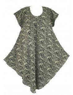 Batik plus size tunic dress