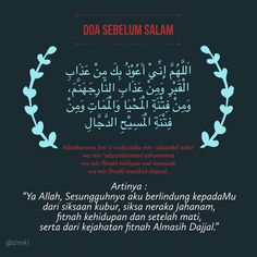 Doa Sebelum Salam