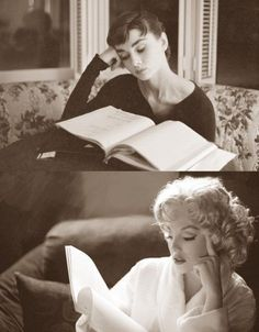 Marilyn Monroe and Audrey Hepburn....Doesn't get any better! Iconic to the super max!