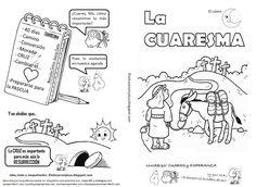 La Catequesis: Cómic para imprimir y colorear con una Explicación sencilla de la Cuaresma para niños