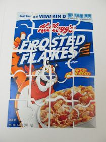 Artzy Creations: Cereal Box Puzzle : can add a picture of my own the front?