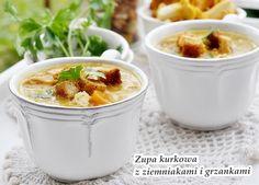 Zupa kurkowa Polish Recipes, Chili, Pudding, Cakes, Cooking, Book, Desserts, Chile, Custard Pudding