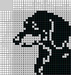 Mini Cross Stitch, Simple Cross Stitch, Cross Stitch Embroidery, Filet Crochet Charts, Knitting Charts, Cross Stitch Designs, Cross Stitch Patterns, Corner To Corner Crochet Pattern, Fillet Crochet