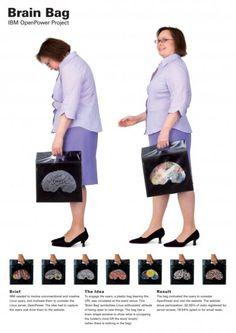 bolsas con diseños de cerebros