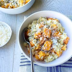 Butternut Squash Risotto with Parmesan