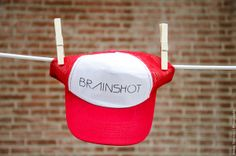BRAINSHOT CAP // RED. ALSO AVAILABLE IN BLACK