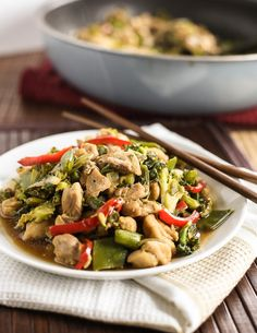 Pencil in this Chicken Stir Fry With Sweet Soy for a low-fuss midweek dinner this week. (Order this weekend and have our fresh produce on your doorstep Monday). via Cafe Delites. Easy Chicken Stir Fry, Healthy Chicken, Chicken Recipes, Healthy Dinner Recipes, Cooking Recipes, Chicken Satay, Boneless Chicken, Cafe Delites, Winner Winner Chicken Dinner