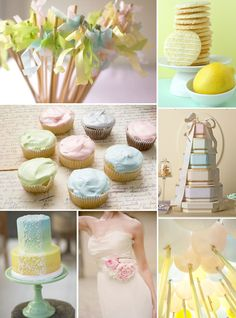 LOVE the skewers with the tissue tops! Vintage Pastel Wedding, Pastel Wedding Theme, Rainbow Wedding, Wedding Candy, Wedding Colors, Wedding Styles, Pastel Weddings, Vintage Garden Parties, Pastel Candy