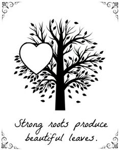 """""""Strong roots produce beautiful leaves"""" - is a wonderful way to show grandparents appreciation. Child's photo can be glued on the space of love heart or child can draw their face. After that child can be offered to colour in tree as well and present to their grandparent. This can be a part of Tree Unit or Family Unit."""