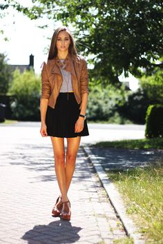 22 Best brown jacket outfit images | Autumn fashion, Cute