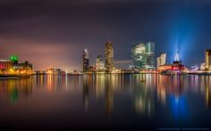 S K Y L I N E - The Skyline of Rotterdam, The Netherlands  Nikon D750 Nikkor 14-24 @20mm Redged tripod Triggertrap used for  LE HDR brackets