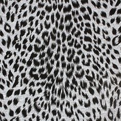 """Black Leopard Spots on Heather Gray Hacci Sweater Knit Fabric - A designer overstock Exclusive!  Black leopard animal spots on heather gray Hacci sweater knit.  Fabric is light to medium weight,  a tighter jersey style weave, nice drape, and has spandex for a good 4 way stretch and recovery.  Largest spot measures 1"""".  ::  $6.50"""