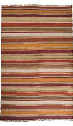 Nandi Stripe Indian Kilim Rug