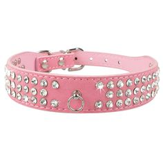 Bling Rhinestone Puppy Cat Collars Adjustable Leather Bowknot Kitten Collar For Small Medium Dogs Cats Chihuahua Pug Yorkshire Kitten Collars, Puppy Collars, Leather Collar, Suede Leather, Yorkshire Terrier, Rhinestone Dog Collar, Bling, Medium Dogs, Types Of Collars