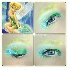 tinkerbell eye makeup