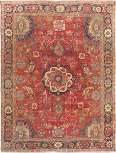 "Antique Sultanabad Rug - A-1203   Sultanabad - 9'0"" x 12'0""   Wool  - Medallion - Pile, Origin Iran, Circa: 1900"