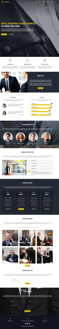 Lawyers Company One Page Template