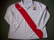 2010 2011 Southampton L/s 125 Years Anniversary Home Football Shirt Adults 3XL