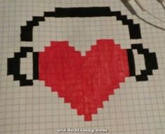 Musiclove - Mine Minecraft World Graph Paper Drawings, Graph Paper Art, Easy Drawings, Cross Stitch Designs, Cross Stitch Patterns, Pixel Art Minecraft, Modele Pixel Art, Pixel Drawing, Pix Art