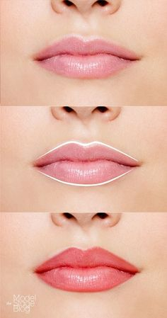 Make uneven lips symmetrical with liner. | 17 Easy Ways To Make Your Lips Look Perfect