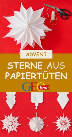 Make paper stars- Papiersterne basteln In this guide, we show you how to transform stars from sandwich bags. Xmas Crafts, Diy And Crafts, Crafts For Kids, Diy Xmas, Gold Christmas Decorations, Xmas Ornaments, Christmas And New Year, Kids Christmas, Origami Diy