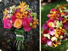 #hot pink #orange #tropical flowers #hawaiian bouquet