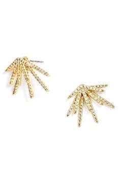 BaubleBar 'Firecracker' Ear Jackets available at Black Jewelry, Black Earrings, Simple Jewelry, Women's Earrings, Anklet Jewelry, Etsy Jewelry, Grunge Jewelry, Ear Jacket, Holiday Jewelry