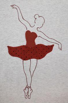 cocodrilova: camiseta bailarina  #camisetapersonalizada #bailarina #balet #hechoamano   camiseta-bailarina