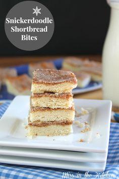 Snickerdoodle Shortbread Bites from MissintheKitchen