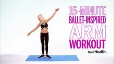 Sculpt Stronger Arms With This Quick Ballet-Inspired Workout Lauren Kleban, of the ballet-inspired fitness method LEKfit, leads a upper-body workout for strong and sculpted shoulders and arms. Tracy Anderson Workout, Tracy Anderson Arms, Pilates Training, Training Plan, Muscle Training, Strength Training, Barre Arm Workout, Gym Workouts, Cardio