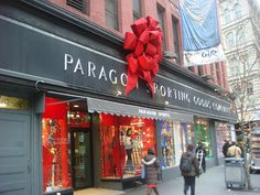 Paragon Sporting Goods Company in NYC...4 floors of great sports attire, equipment, anything you could want for just about any sport.