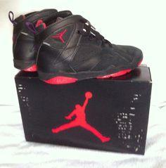 ORIGINAL 1992 Nike Sky Jordan VII 7 s (Air Jordan VII 7 s) size 3 Youth in  Original Box! Shoes are Black and TruRed. 7a1cdfac6
