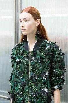 Marni bejewlled top in emerald green - Haut perlé vert émeraude