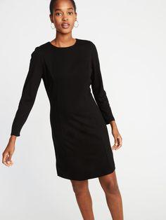c1ba134b490 Ponte-Knit Shirred-Sleeve Sheath Dress for Women