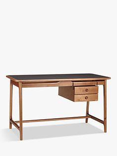 Buy John Lewis & Partners Soren Desk from our Office Desks range at John Lewis & Partners. Walnut Furniture, Furniture Design, John Lewis Desks, Wooden Study Table, Floating Drawer, Dressing Table Desk, Oak Desk, Adjustable Height Desk, Common Room