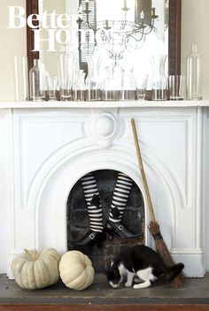Halloween Fab Fireplace by Urban Comfort for BHG Halloween Tricks and Treats magazine - October 2012