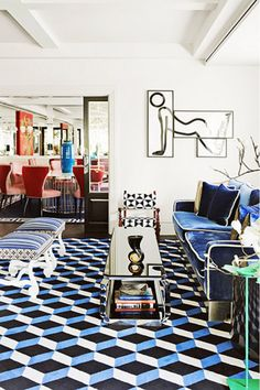 Keeping+Up+With+Castillo:+A+Vibrant+Living+Room+via+@domainehome