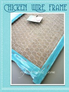 Make A Chicken wire frame for messages or jewelry- Welcome to reFresh reStyle!