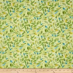Prelude Leaves Allover Dark Blue from @fabricdotcom  Designed by Cynthia Coulter and licensed to Wilmington Prints, this cotton print fabric features colorful leaves and is perfect for quilting, apparel and home decor projects. Colors include mustard, cream and shades of blue and green.