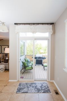 White Sliding Glass Door Curtain Shade Curtains On The