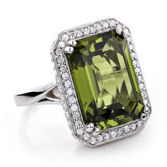 Shop for 14k Gold 13ct TGW Peridot and 1 3/4ct TDW Diamond Cocktail Ring (G-H, VS1-VS2). Get free delivery at Overstock.com - Your Online Jewelry Destination! Get 5% in rewards with Club O!