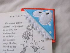 NOW AVAILABLE - MONSTER NO. 5 @ KC DEZIGNS - ITH Monster Corner Bookmark 05  4x4 by KCDezigns on Etsy, $4.50