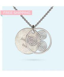 Wheel of life Inside Story Necklace Wheel Of Life, Pendant Design, Gift Vouchers, Hamsa, Precious Metals, Initials, Bloom, Pendants, Messages