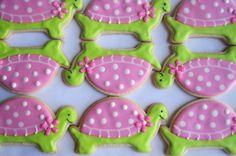 PREPPY TURTLE Sugar Cookie Party Favors 1 Dozen by sugarandflour. $36.00, via Etsy.