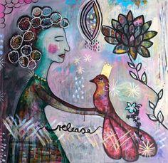 Abstrakte Kunst Originalbild Release Acrylbild von MissLillemor