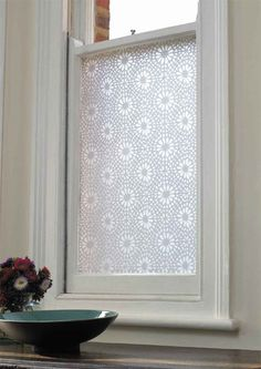 Emma Jeffs White Moroccan Tile Adhesive Film modern window treatments