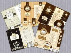 Coffee Menu Cards Vector
