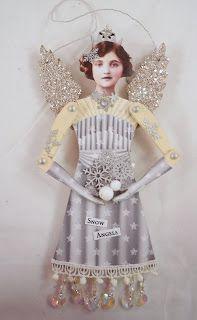 Trash to Treasure Art: Christmas Angels Christmas Angel Ornaments, Christmas Fairy, Vintage Christmas, Christmas Crafts, Christmas Deco, Paper Dolls, Art Dolls, Paper Art, Paper Crafts